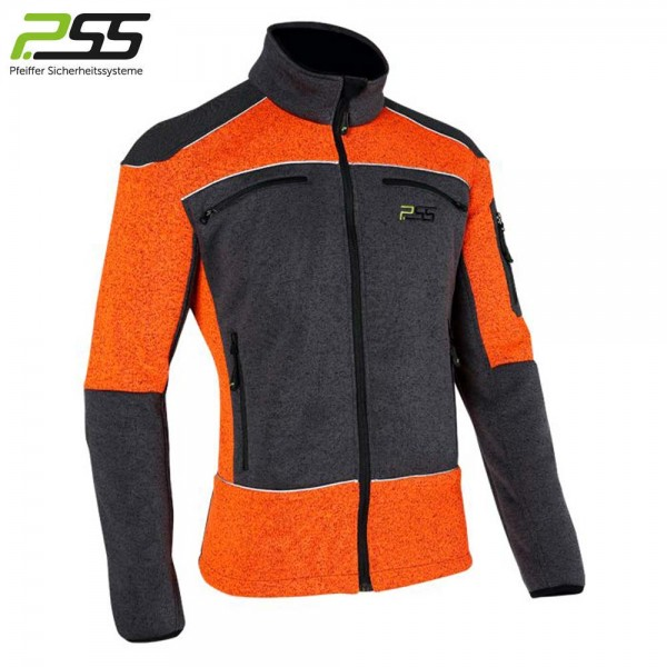 PSS X-treme Arctic Faserstrickjacke in Orange/Grau 1